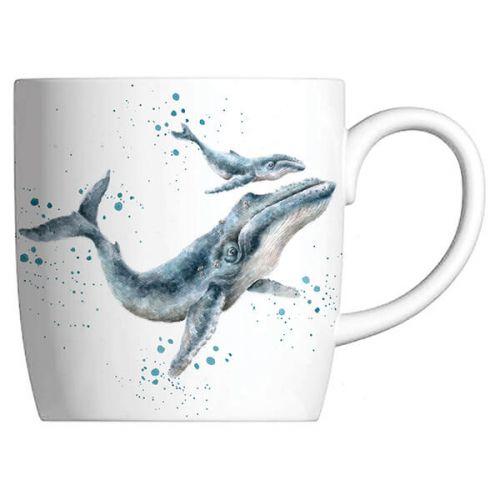 Wrendale Designs Fine Bone China Mug Marine Blue, Whale
