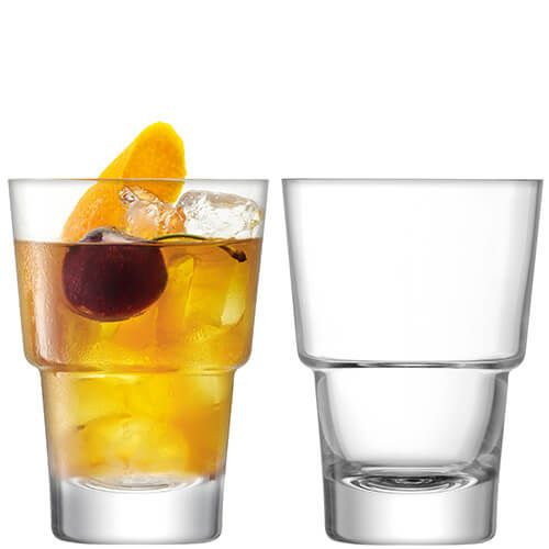 LSA Mixologist Clear Cocktail Tumbler 320ml Set Of Two