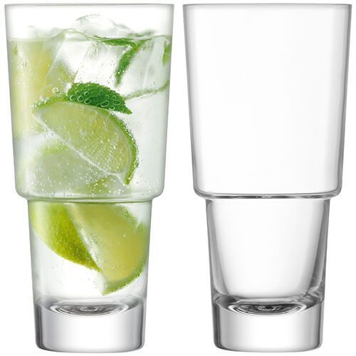LSA Mixologist Clear Cocktail Highball 400ml Set Of Two
