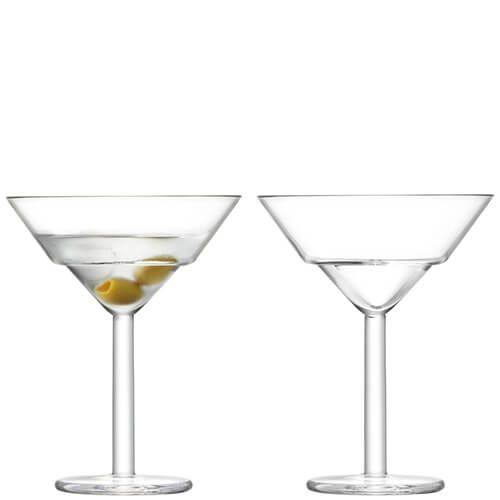 LSA Mixologist Clear Cocktail Martini Glass 230ml Set Of Two
