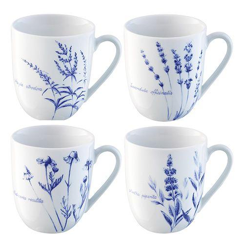 LSA Royal Botanical Gardens Kew 350ml Mug Assorted Set of 4