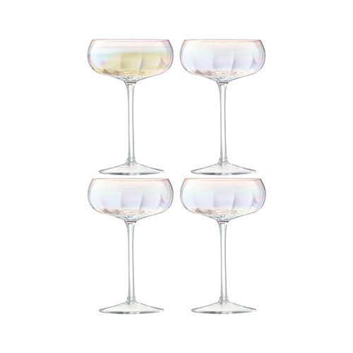 LSA Pearl Champagne Saucer 300ml Set Of 4