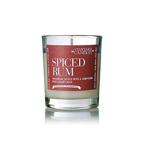 Vineyard Shot Glass Spiced Rum Candle