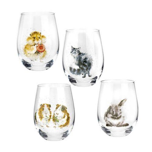 Wrendale Designs Set of 4 Tumbler Glasses