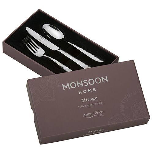 Arthur Price Monsoon Mirage 3 Piece Child Cutlery Set