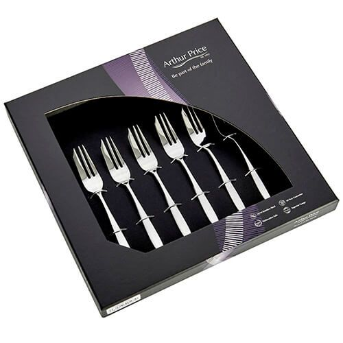 Arthur Price Contemporary Willow Set of 6 Pastry Forks