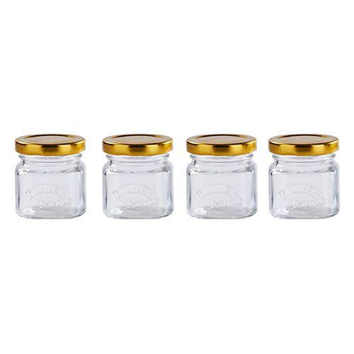 Kilner Set Of 4 Shot Jars With Lids