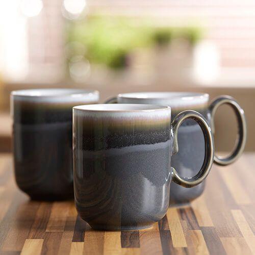 Denby Jet Grey Double Dip Mug