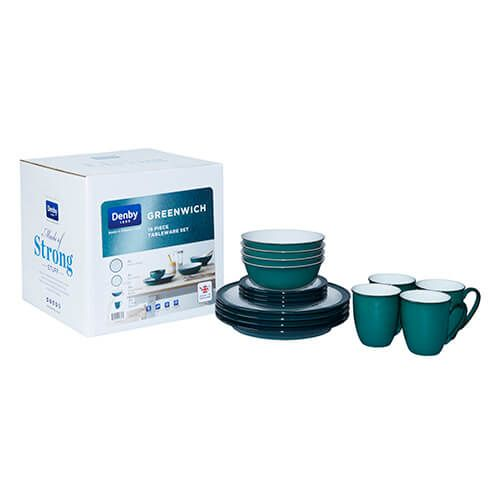 Denby Greenwich 16 Piece Set