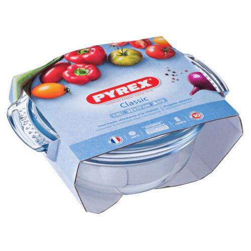Pyrex Classic 1.0L Round Casserole Easy Grip 3 for 2