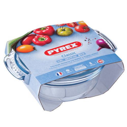 Pyrex Classic 1.5L Round Casserole Easy Grip 3 for 2