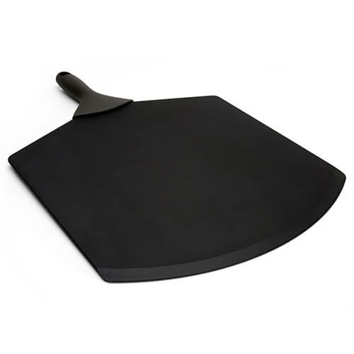 """Epicurean Signature Wood Composite 21"""" x 14"""" Slate Pizza Peel With Brown Silicone Handle"""