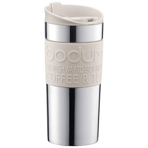 Bodum Travel Mug Stainless Steel Off White