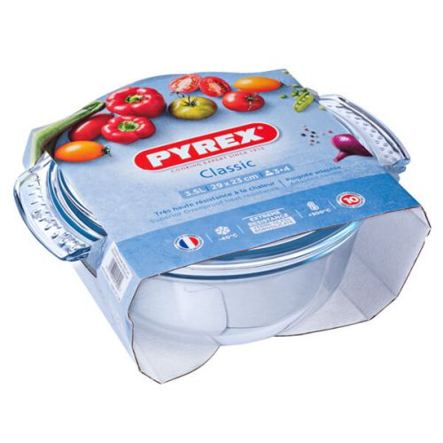 Pyrex Classic 2.5L Round Casserole Easy Grip 3 for 2
