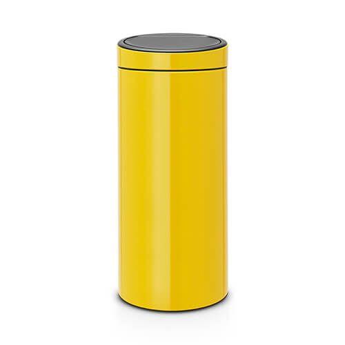 Brabantia Touch Bin 30 Liter.Brabantia Touch Bin 30 Litre Daisy Yellow 115240 Harts Of Stur