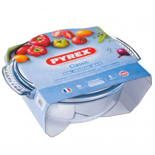 Pyrex Classic 3.75L Round Casserole Easy Grip