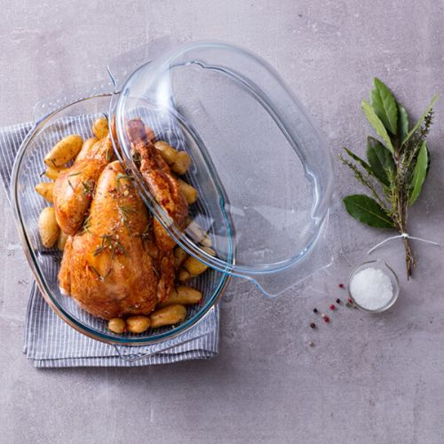 Pyrex Classic Chicken Roaster Easy Grip