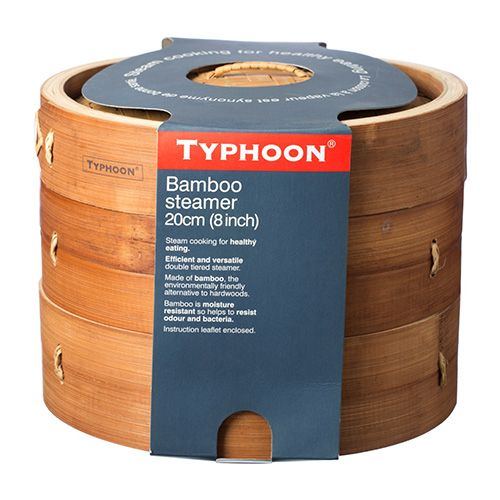 "Typhoon Double Tier 8"" Bamboo Steamer"
