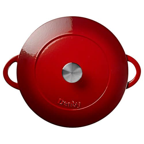 Denby Cast Iron Pomegranate 30cm Shallow Casserole
