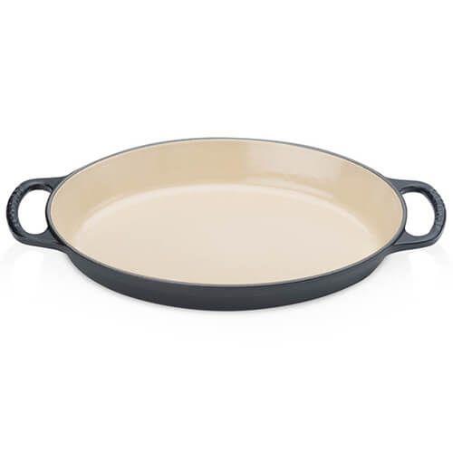 Le Creuset Signature Satin Black Cast Iron 28cm Oval Gratin Dish