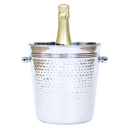 Epicurean Hammered Steel Champagne Bucket