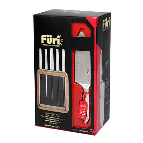 Furi Pro 6 Piece Vault Knife Block Set