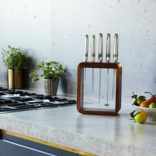Furi Pro 6 Piece Vault Knife Block Set