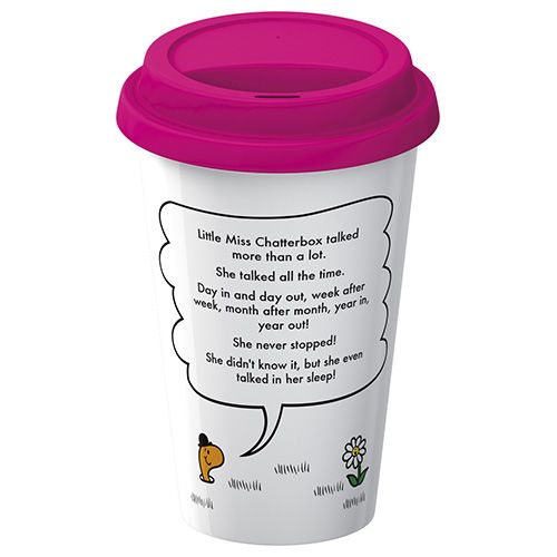 Mr Men Little Miss Chatterbox Travel Mug
