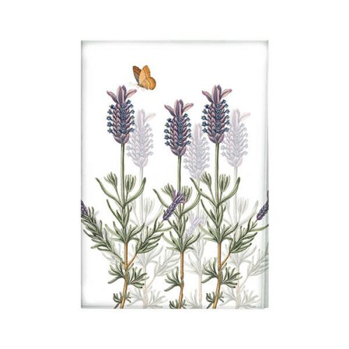Royal Botanic Gardens Kew Lavender Tea Towel White
