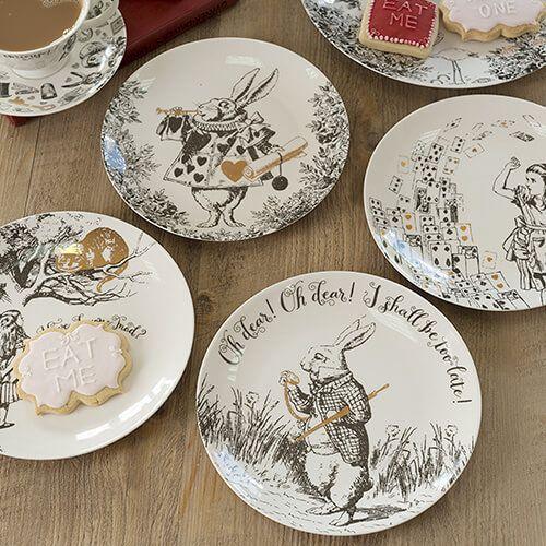 Alice In Wonderland Set of 4 Side Plates