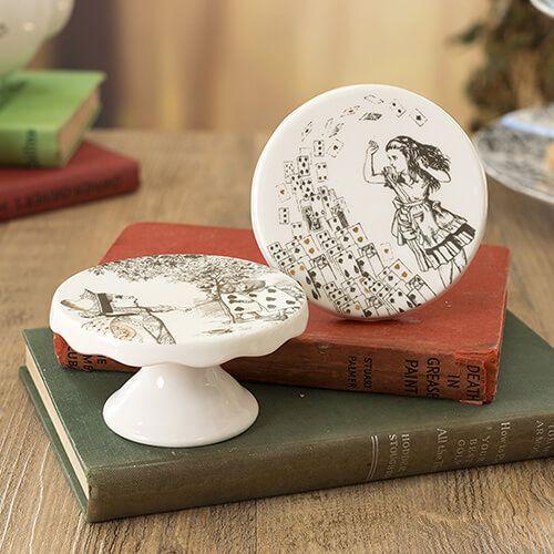 Alice In Wonderland Set of 2 Mini Cake Pedestals