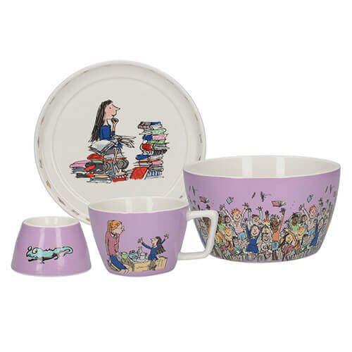 Roald Dahl Matilda 4 Piece Breakfast Stacking Set