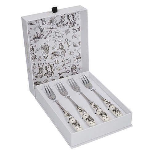 Alice In Wonderland Set 4 Pastry Forks
