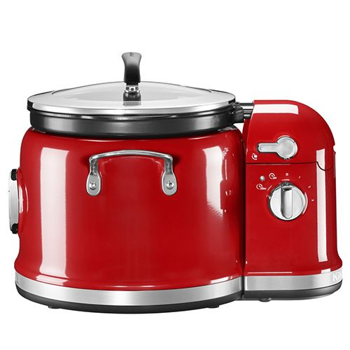 Kitchenaid Empire Red Multi Cooker With Stirring Arm