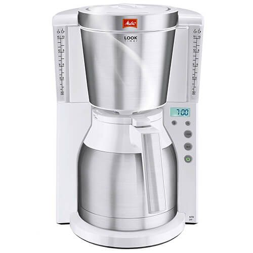 melitta look therm timer white filter coffee machine 1011-15 | harts ...