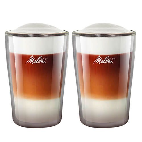 Melitta 300ml Double Wall Latte Macchiato Glass Set Of 2