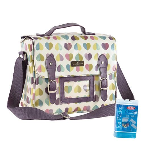 Navigate Beau & Elliot Confetti Vintage Insulated Satchel FREE Thermos Set Of Two Ice Packs 200g
