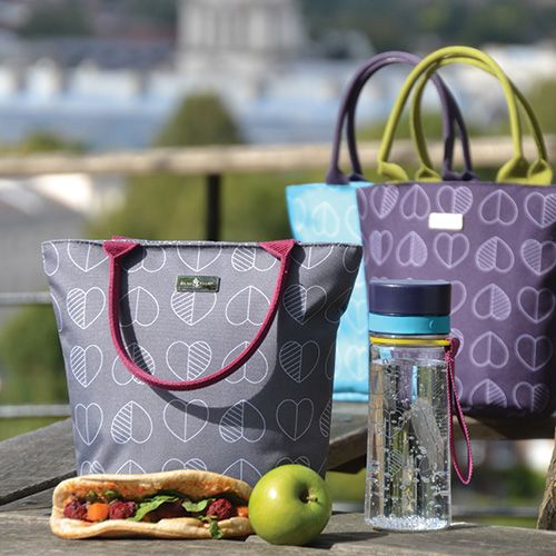 Navigate Beau & Elliot Confetti Outline Midnight Blue Insulated Lunch Tote FREE Thermos Set Of Two Ice Packs 400g