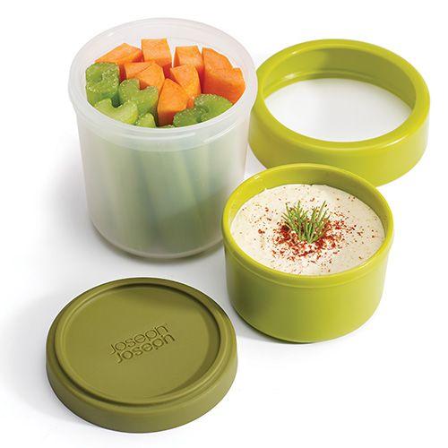 Joseph Joseph GoEat Compact 2 in 1 Snack Pot Green