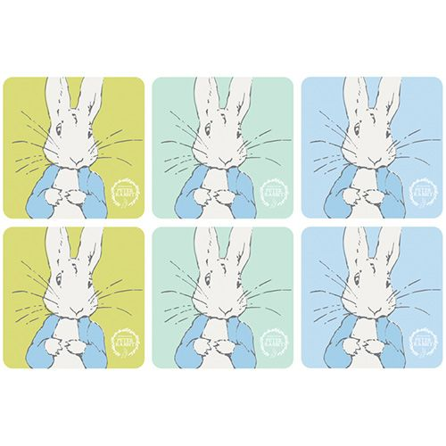 Peter Rabbit Contemporary Set Of 6 Coasters