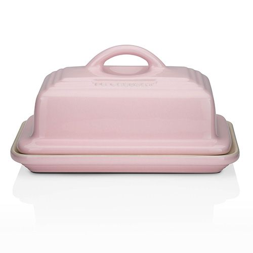 Le Creuset Chiffon Pink Stoneware Butter Dish