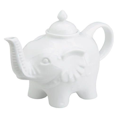BIA Elephant Sugar Pot White