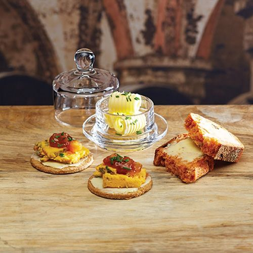 Artesa Mini Glass Butter Dish