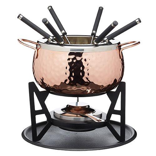 Artesa Hammered Copper Fondue Set Artfoncop