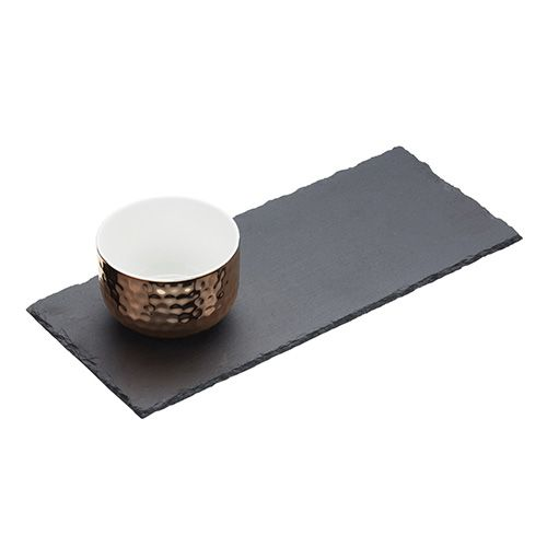 Artesa Two Piece Slate & Copper Serving Set