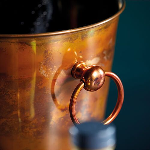 BarCraft Swirling Copper Finish Champagne Bucket
