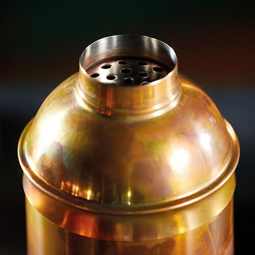 BarCraft 700ml Swirling Copper Finish Cocktail Shaker