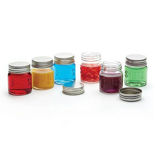 BarCraft 60ml Set of 6 Shot Jars
