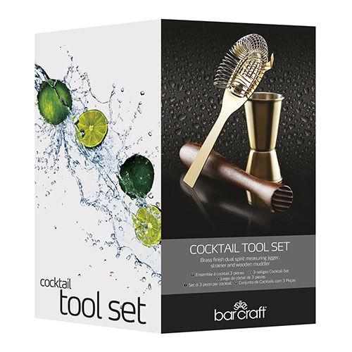 BarCraft Three Piece Cocktail Tool Set