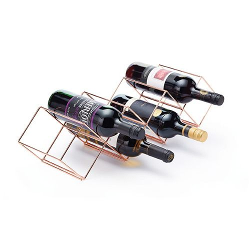 BarCraft Copper Finish Wire Stackable Wine Rack